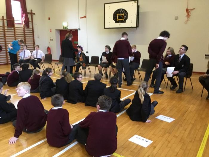 Year 13 organise the candidates.